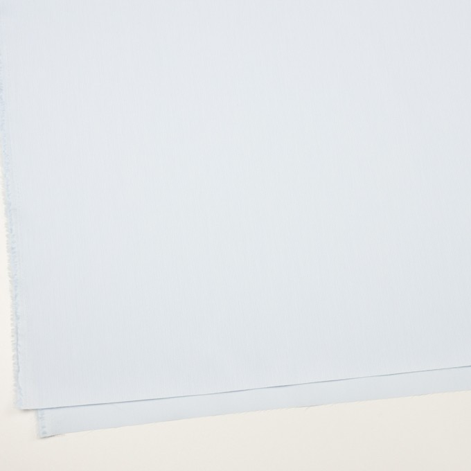 コットン&ポリエステル×ストライプ(ペールブルー)×かわり織 イメージ2