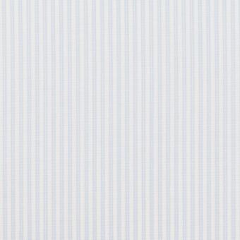 コットン×ストライプ(ペールブルー)×ブロード