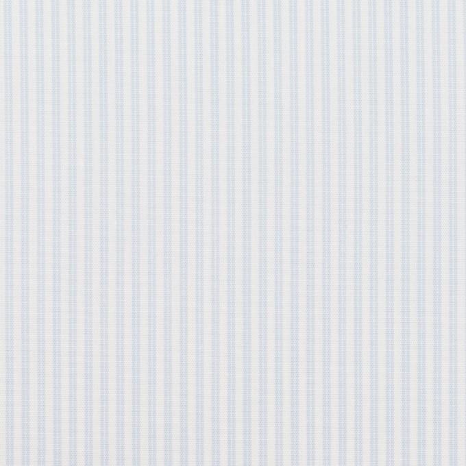 コットン×ストライプ(ペールブルー)×ブロード イメージ1