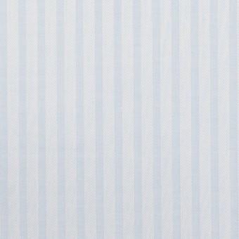 コットン×ストライプ(ペールブルー)×サージジャガード