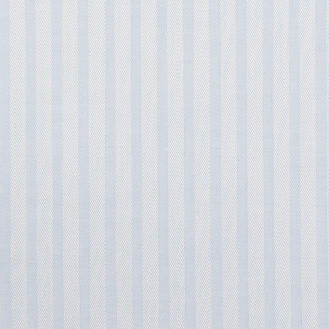 コットン×ストライプ(ペールブルー)×サージジャガード イメージ1