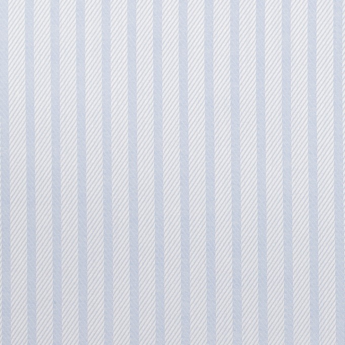 コットン×ストライプ(サックス)×サージジャガード イメージ1