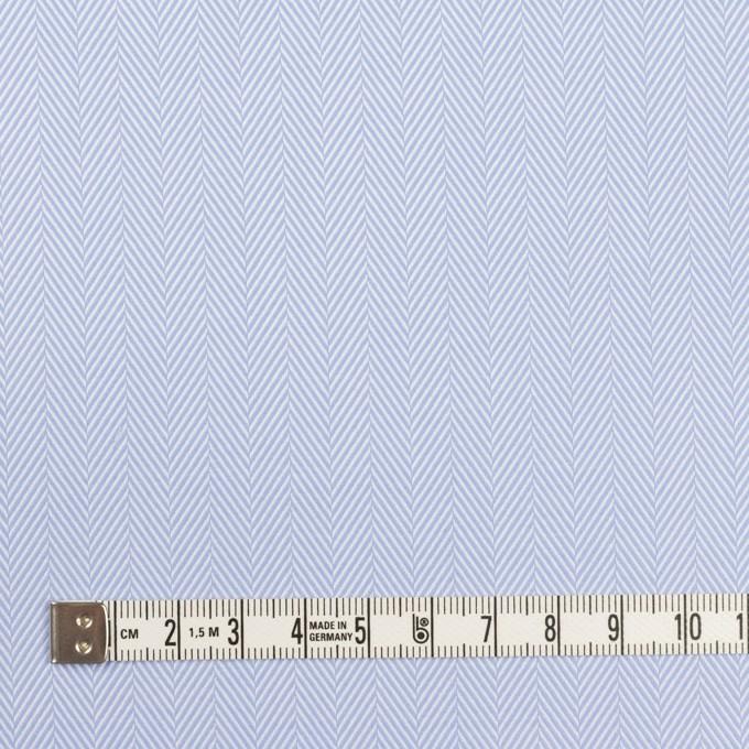 コットン×無地(サックス)×ヘリンボーン イメージ4