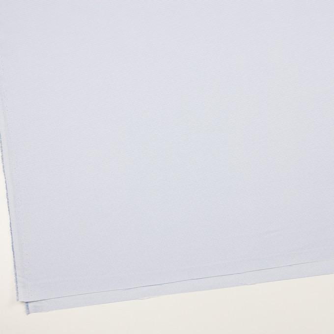 ポリエステル×ボーダー(サックス)×斜子織 イメージ2