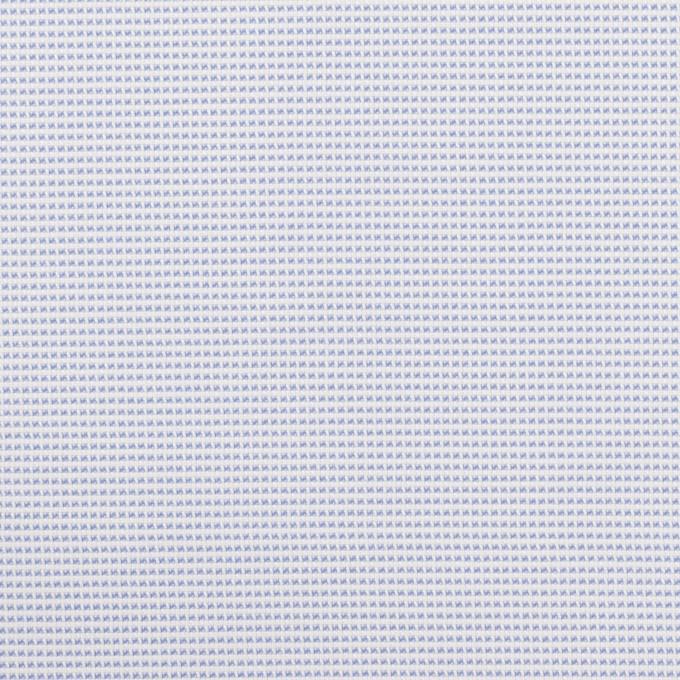 ポリエステル×ボーダー(サックス)×斜子織 イメージ1