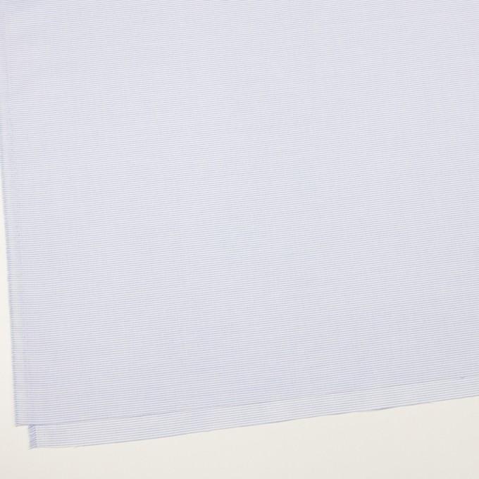 コットン×ボーダー(サックス)×斜子織 イメージ2