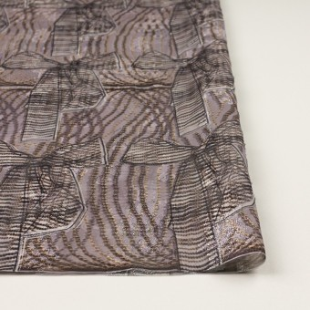 ポリエステル×幾何学模様(ローズグレー)×ジョーゼット・カットジャガード_全2色 サムネイル3