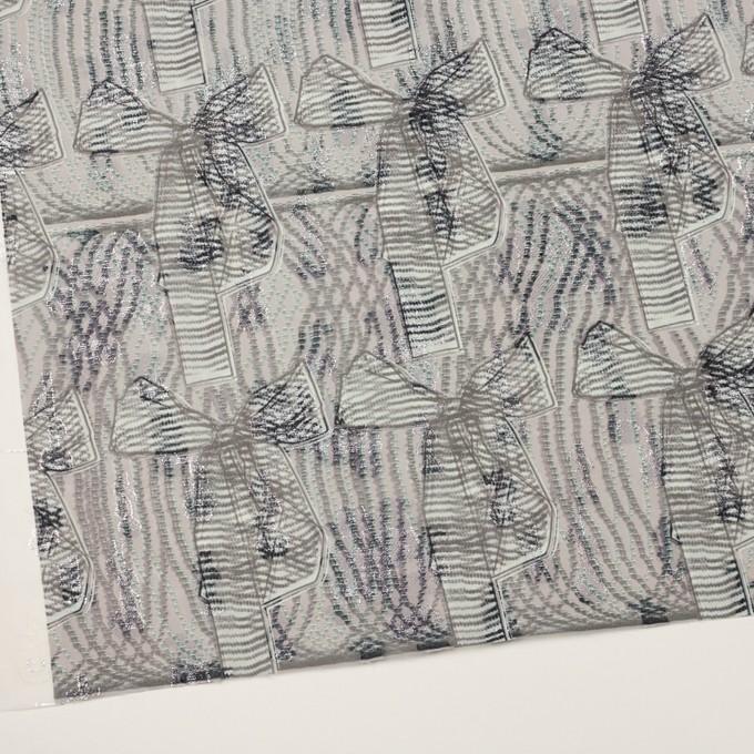 ポリエステル×幾何学模様(スレートグレー)×ジョーゼット・カットジャガード_全2色 イメージ2
