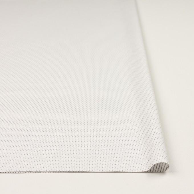 コットン&ポリウレタン×ステッチ(ミルク&ネイビー)×ドビーストレッチ イメージ3