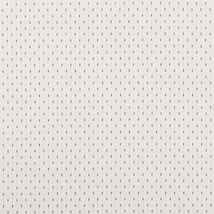 コットン&ポリウレタン×ステッチ(ミルク&ネイビー)×ドビーストレッチ イメージ1
