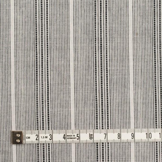 コットン×ストライプ(グレー)×ボイル イメージ4