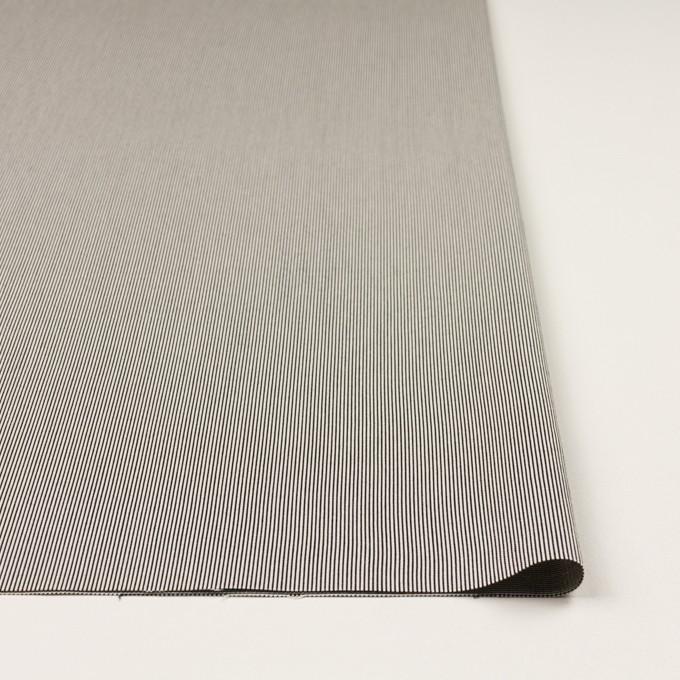 コットン&シルク混×ストライプ(アイボリー&ブラック)×コードレーン・ストレッチ イメージ3