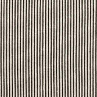 コットン&シルク混×ストライプ(アイボリー&ブラック)×コードレーン・ストレッチ