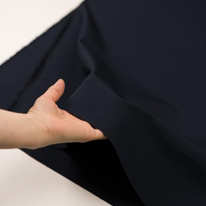 コットン&シルク×無地(ブラック)×リップストップ_全4色 イメージ5