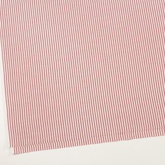 コットン×ストライプ(レッド)×斜子織 サムネイル2