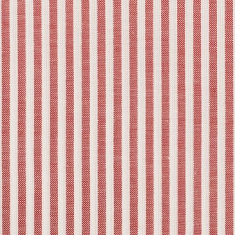 コットン×ストライプ(レッド)×斜子織 サムネイル1