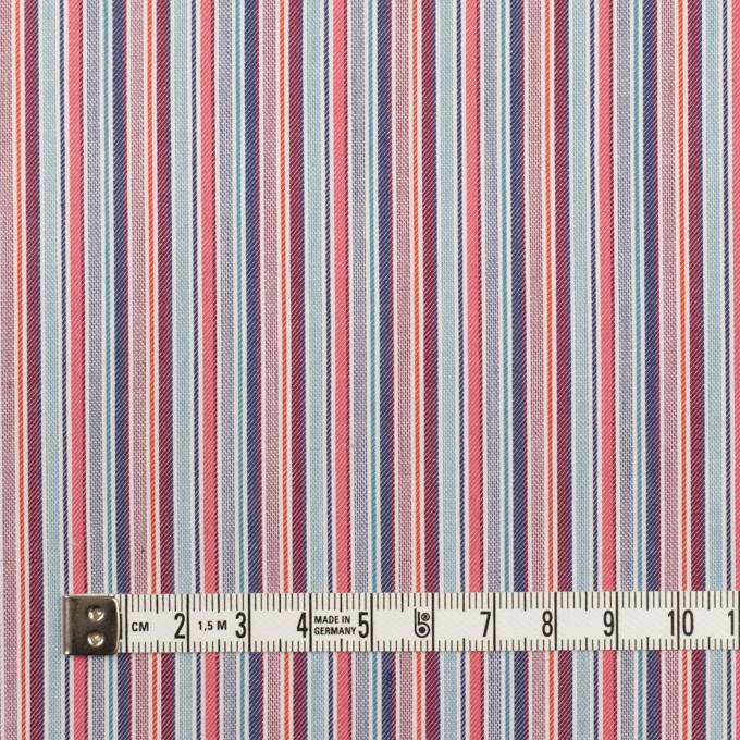 コットン×ストライプ(チェリー&アッシュネイビー)×ブロード&サージ イメージ4