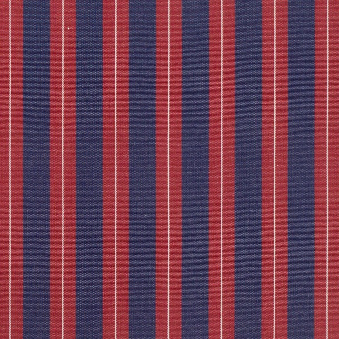 コットン×ストライプ(バーガンディーレッド&アッシュネイビー)×ブロード イメージ1
