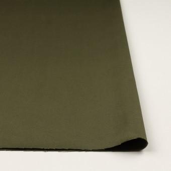 コットン×無地(ディープカーキグリーン)×二重織 サムネイル3