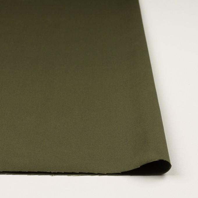 コットン×無地(ディープカーキグリーン)×二重織 イメージ3