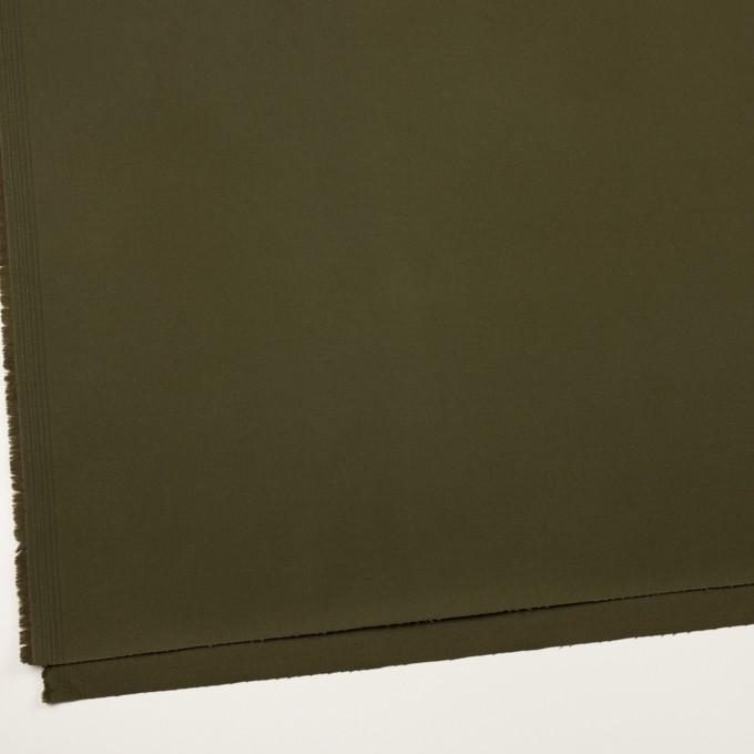 コットン&ポリウレタン×無地(ダークカーキグリーン)×チノクロス・ストレッチ イメージ2