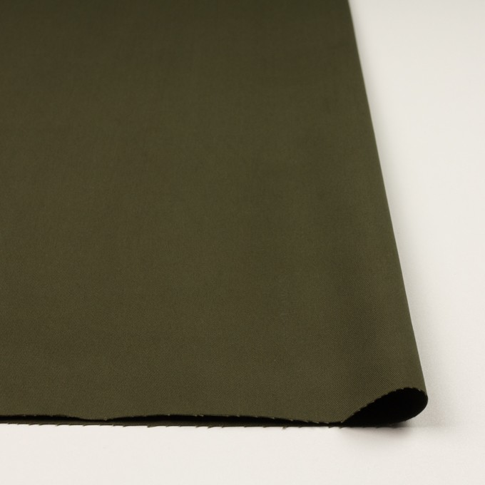 コットン&ポリウレタン×無地(ダークカーキグリーン)×チノクロス・ストレッチ イメージ3
