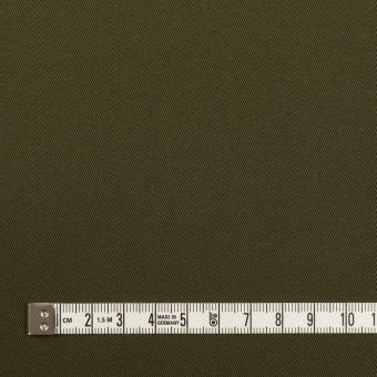 コットン&ポリウレタン×無地(ダークカーキグリーン)×チノクロス・ストレッチ サムネイル4