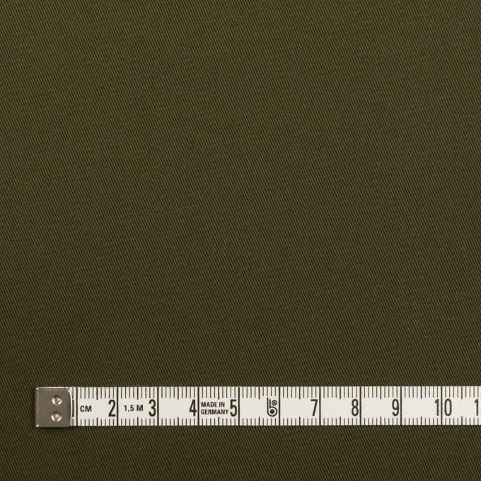 コットン&ポリウレタン×無地(ダークカーキグリーン)×チノクロス・ストレッチ イメージ4