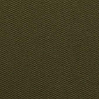 コットン&ポリウレタン×無地(ダークカーキグリーン)×チノクロス・ストレッチ
