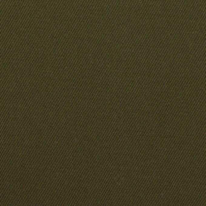 コットン&ポリウレタン×無地(ダークカーキグリーン)×チノクロス・ストレッチ イメージ1
