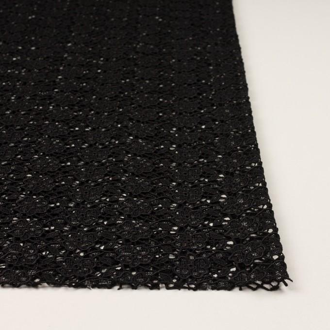 レーヨン×フラワー(ブラック)×ケミカルレース イメージ3