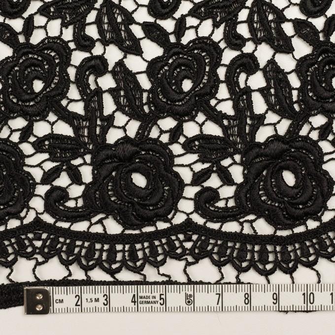 レーヨン×フラワー(ブラック)×ケミカルレース イメージ6