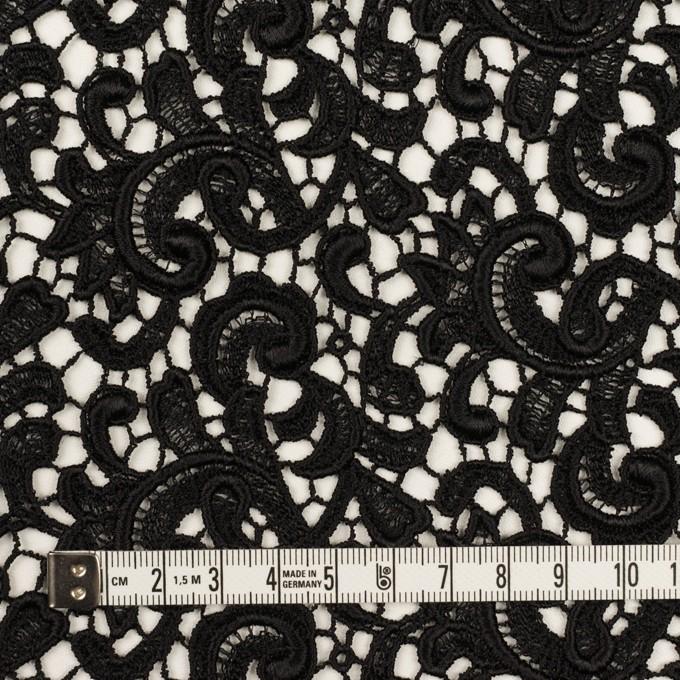 レーヨン×ペイズリー(ブラック)×ケミカルレース イメージ4