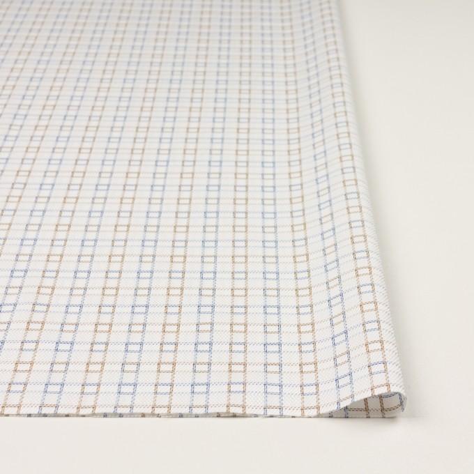 コットン×チェック(ベージュ&サックス)×サージ&斜子織 イメージ3