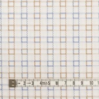 コットン×チェック(ベージュ&サックス)×サージ&斜子織 サムネイル4