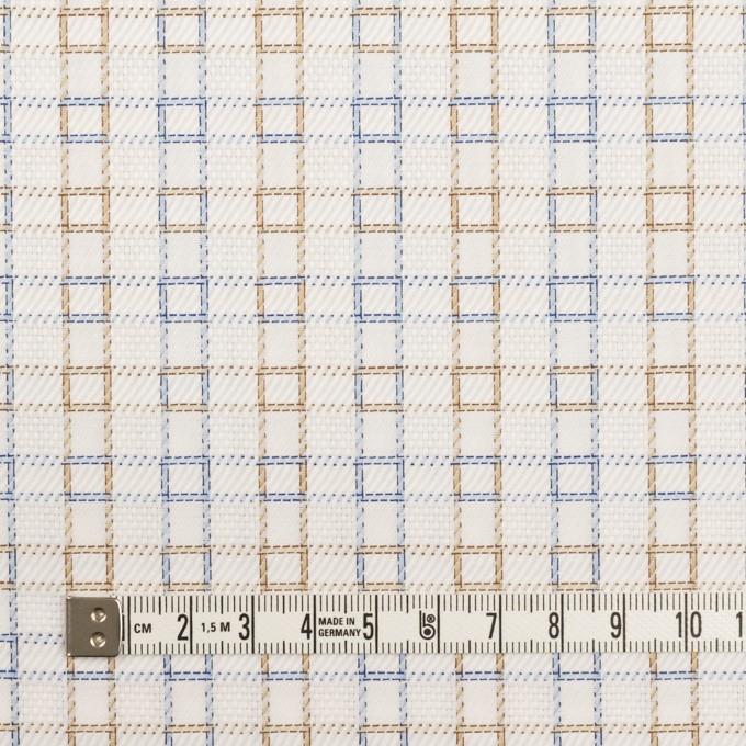 コットン×チェック(ベージュ&サックス)×サージ&斜子織 イメージ4