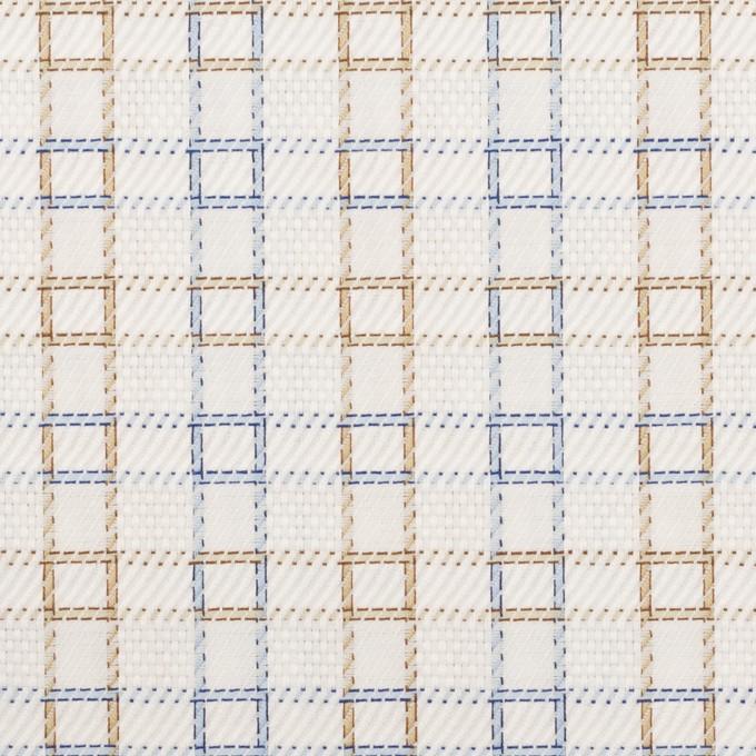 コットン×チェック(ベージュ&サックス)×サージ&斜子織 イメージ1