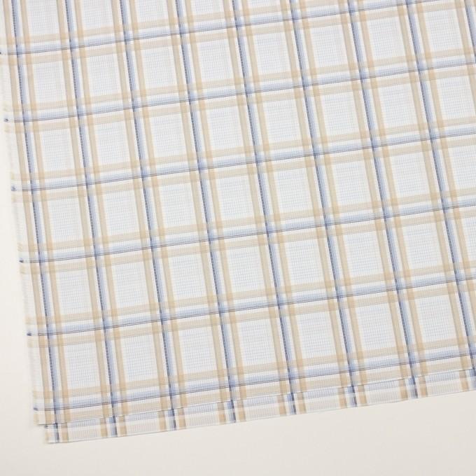 コットン×チェック(ベージュ&サックス)×斜子織 イメージ2