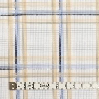 コットン×チェック(ベージュ&サックス)×斜子織 サムネイル4
