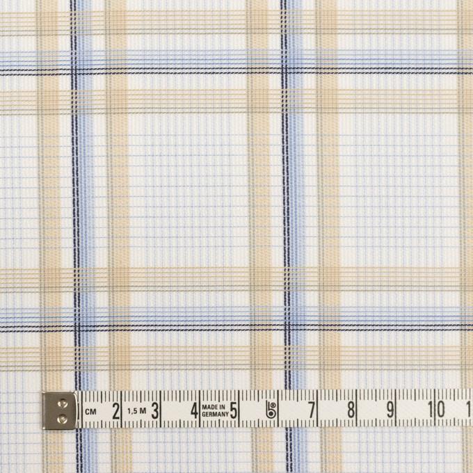 コットン×チェック(ベージュ&サックス)×斜子織 イメージ4