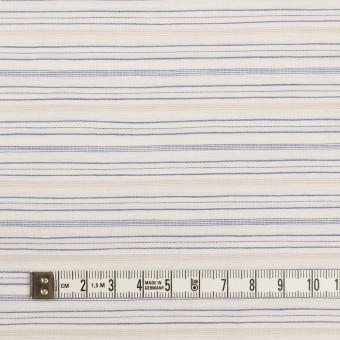 コットン&リネン×ボーダー(ブルー&ベージュ)×ポプリン サムネイル4