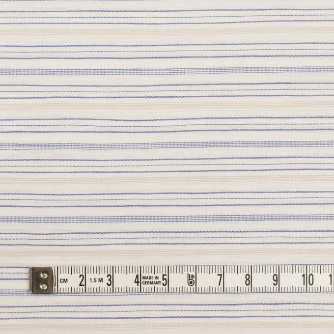 コットン&リネン×ボーダー(ブルー&ベージュ)×ポプリン イメージ4