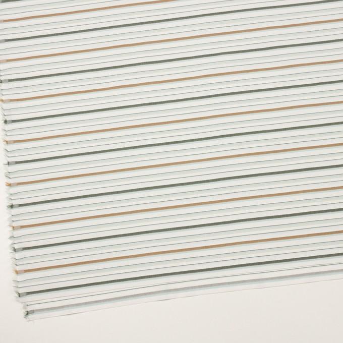 コットン×ボーダー(シャーベットグリーン、モカ&モス)×ポプリンジャガード イメージ2
