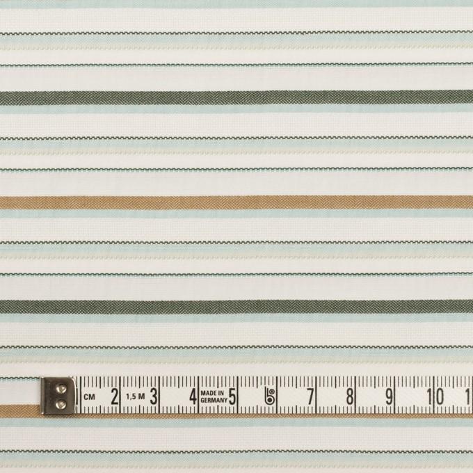 コットン×ボーダー(シャーベットグリーン、モカ&モス)×ポプリンジャガード イメージ4