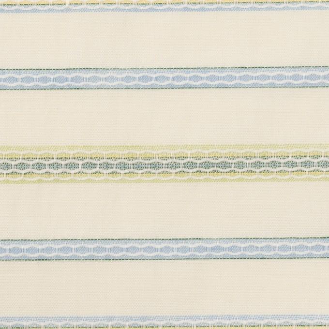 コットン×ボーダー(クリーム、サックス&イエローグリーン)×ボイルドビー イメージ1