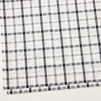 コットン×チェック(ホワイト&チャコールグレー)×サッカー_全2色 サムネイル2