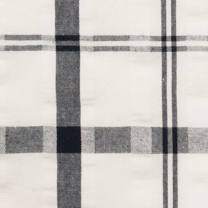 コットン×チェック(ホワイト&チャコールグレー)×サッカー_全2色 イメージ1
