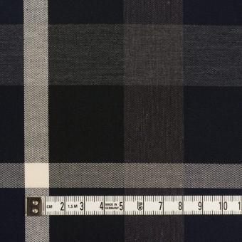 コットン×チェック(ダークネイビー&チャコールグレー)×サージ_全2色 サムネイル4