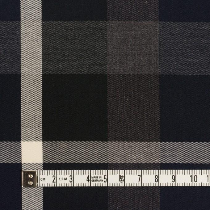 コットン×チェック(ダークネイビー&チャコールグレー)×サージ_全2色 イメージ4