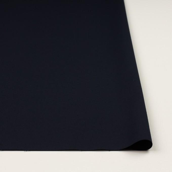 コットン&ポリウレタン×無地(ダークネイビー)×二重織ストレッチ イメージ3